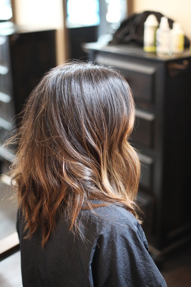 After Balayage highlight