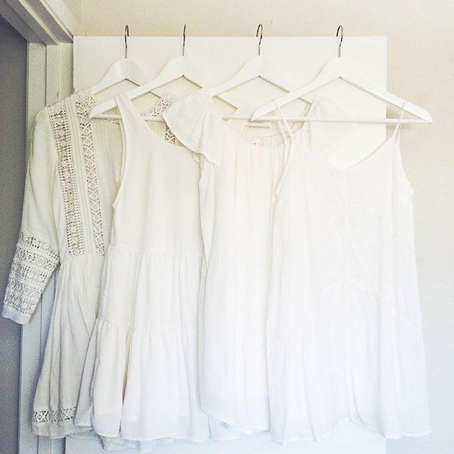 white bachelorette dresses