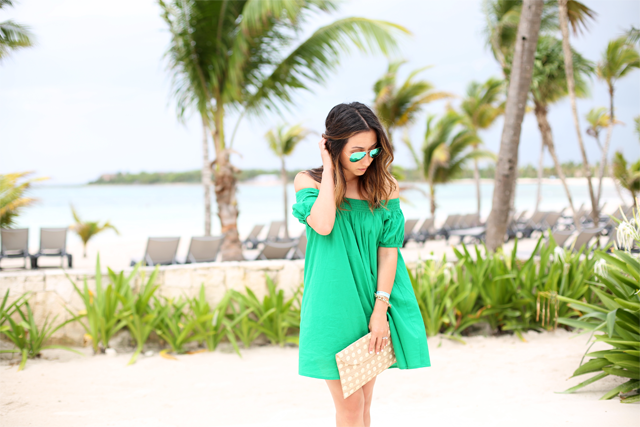 Asos green smock dress
