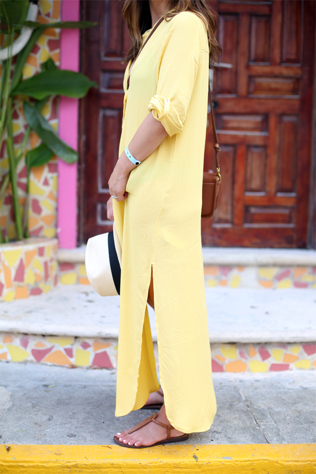 Forever 21 yellow maxi