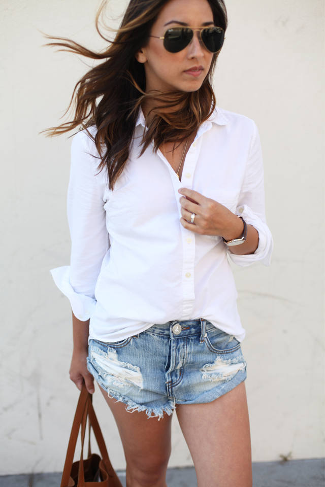 Gap white button up