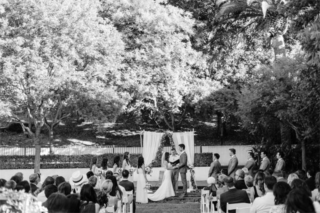 Crystalin Marie wedding ceremony