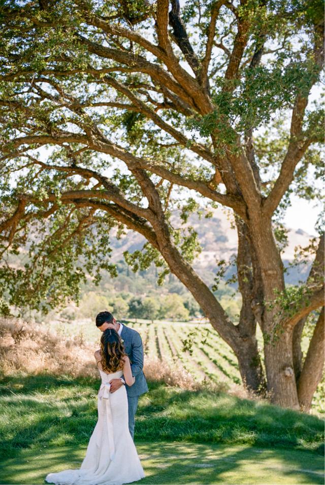 Crystalin and Mike wedding Wente Vineyards 3