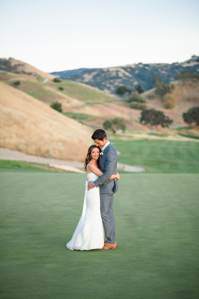Crystalin and Mike wedding Wente Vineyards