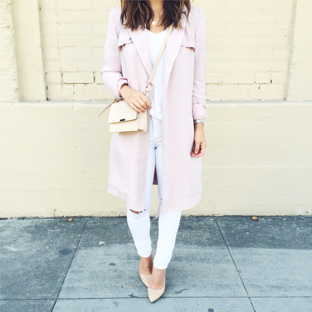 asos pink trench coat