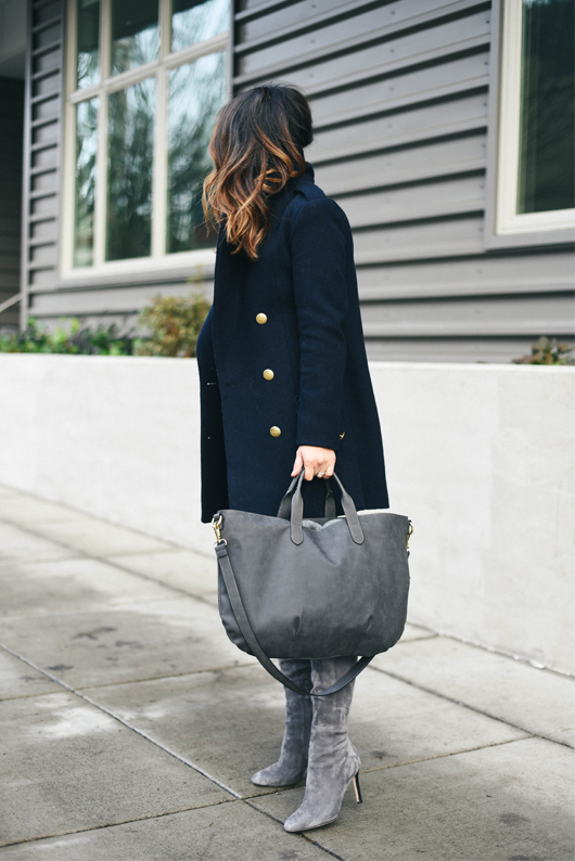 Old Navy gray tote