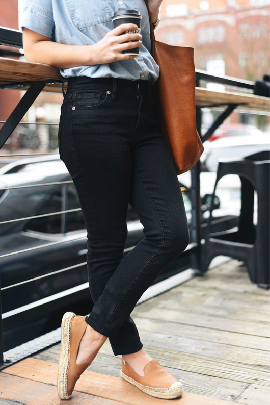 Madewell High Riser Skinny Skinny Jeans in Lunar