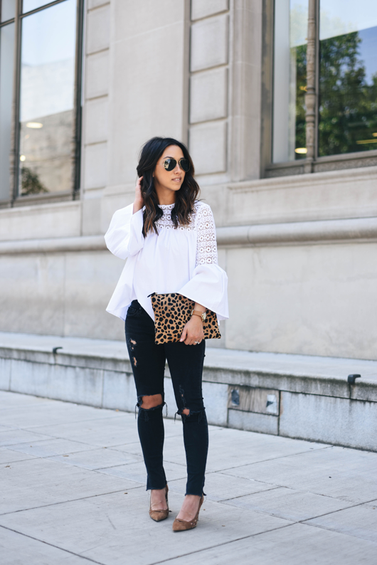 AG black distressed jeans