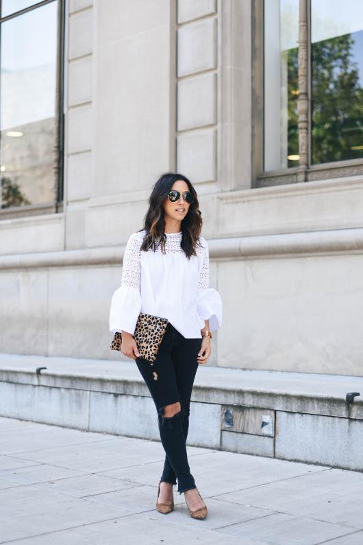 AG black skinny distressed jeans