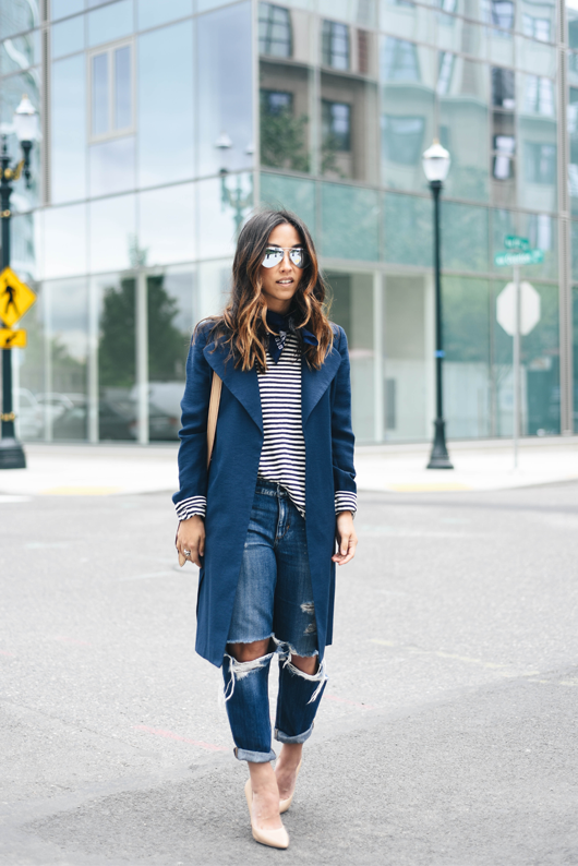 Chelsea 28 navy trench coat