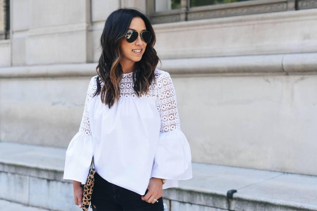 Endless Rose boho white blouse
