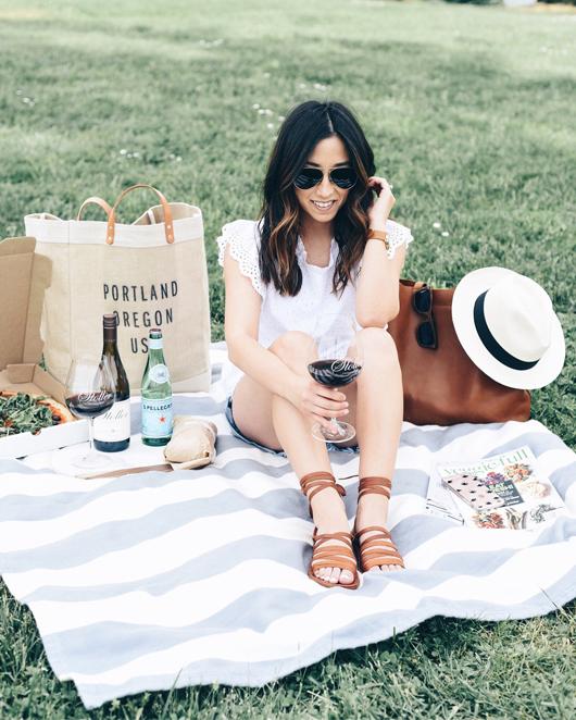 Crystalin Marie picnic at Stoller Winery
