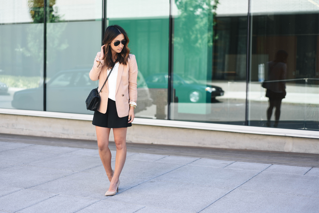 Crystalin Marie wearing Charles By Charles pact pumps nude