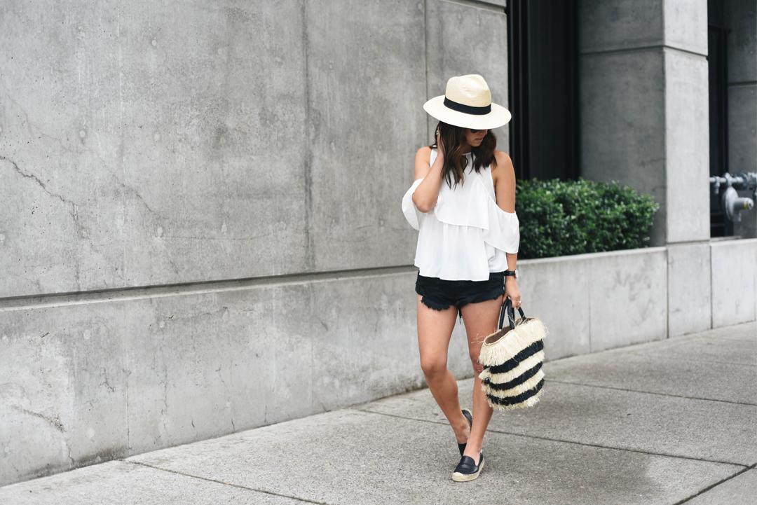 H&M cream panama hat