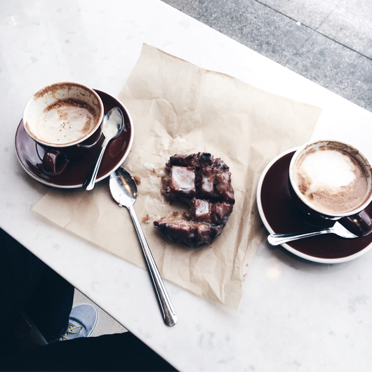 Stumptown Coffee and blue star donuts