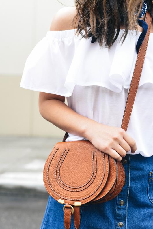 Tan small chloe marcie bag