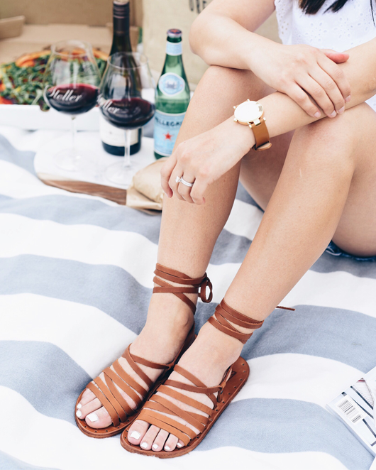 beek lace up sandals