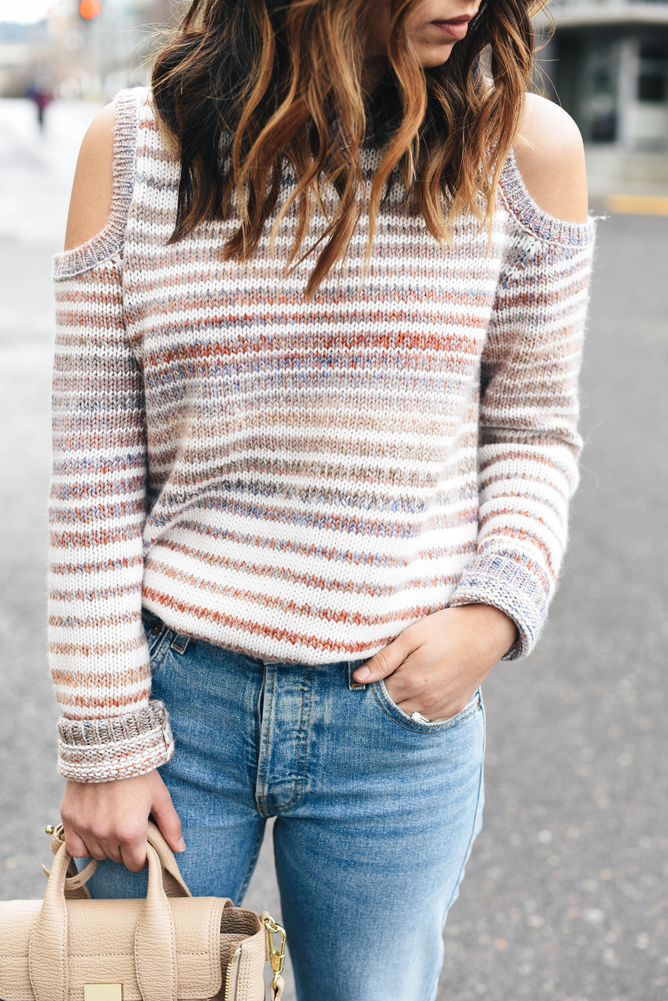 Rebecca Minkoff cold shoulder sweater