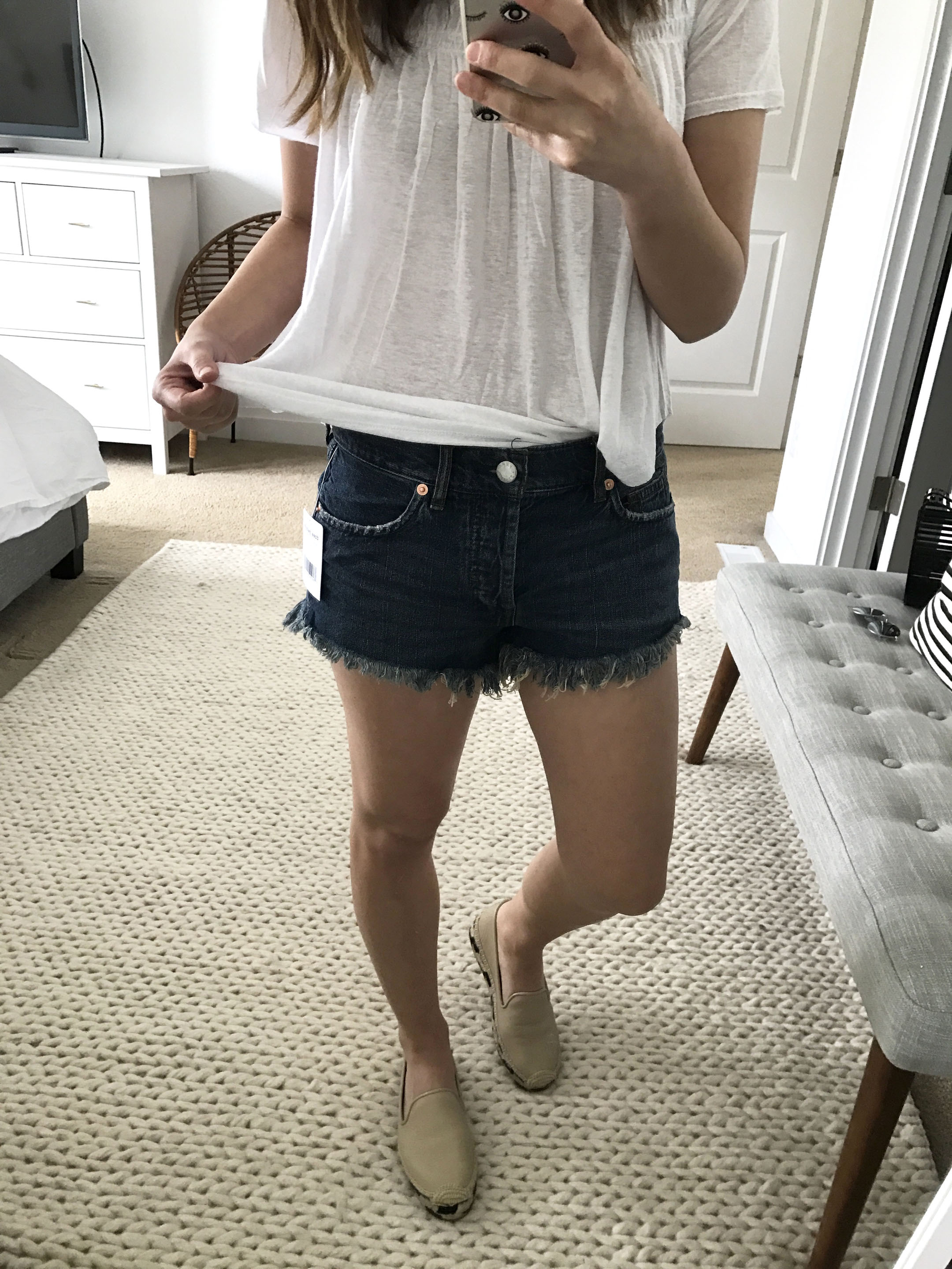 Free People soft & relaxed cutoff shorts 2