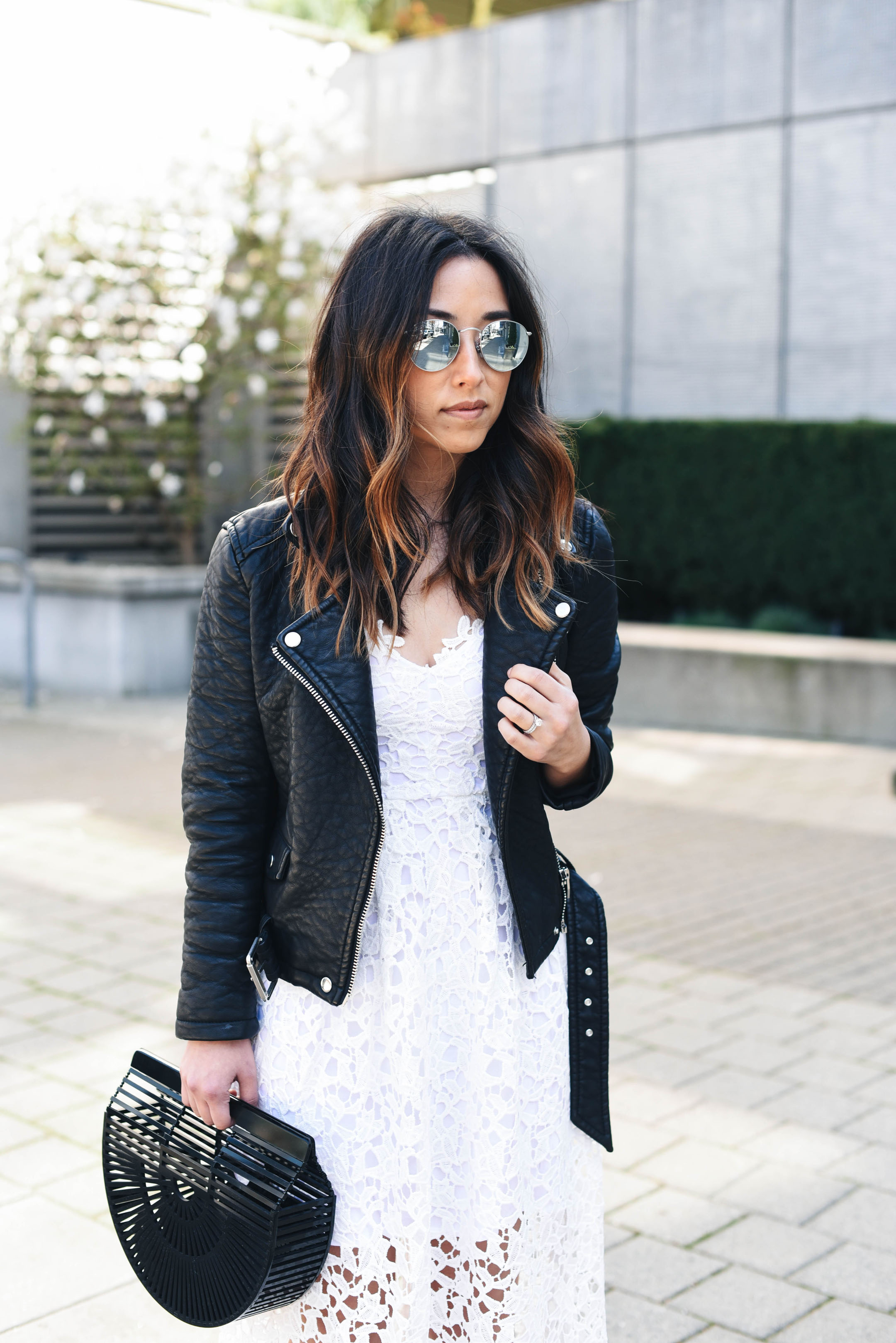 Ray-Ban rounded mirrored sunglasses