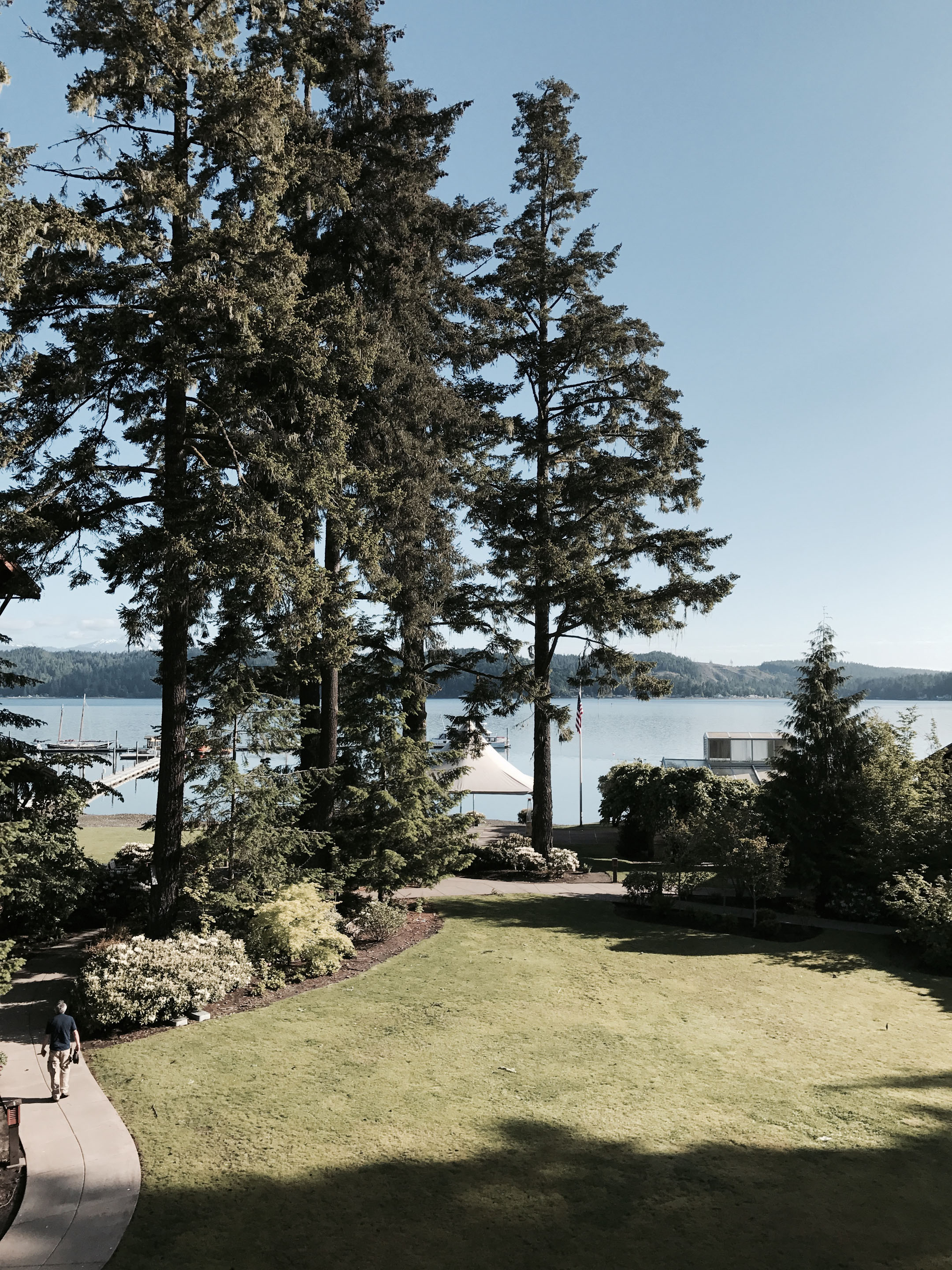 alderbrook room view on sunny day