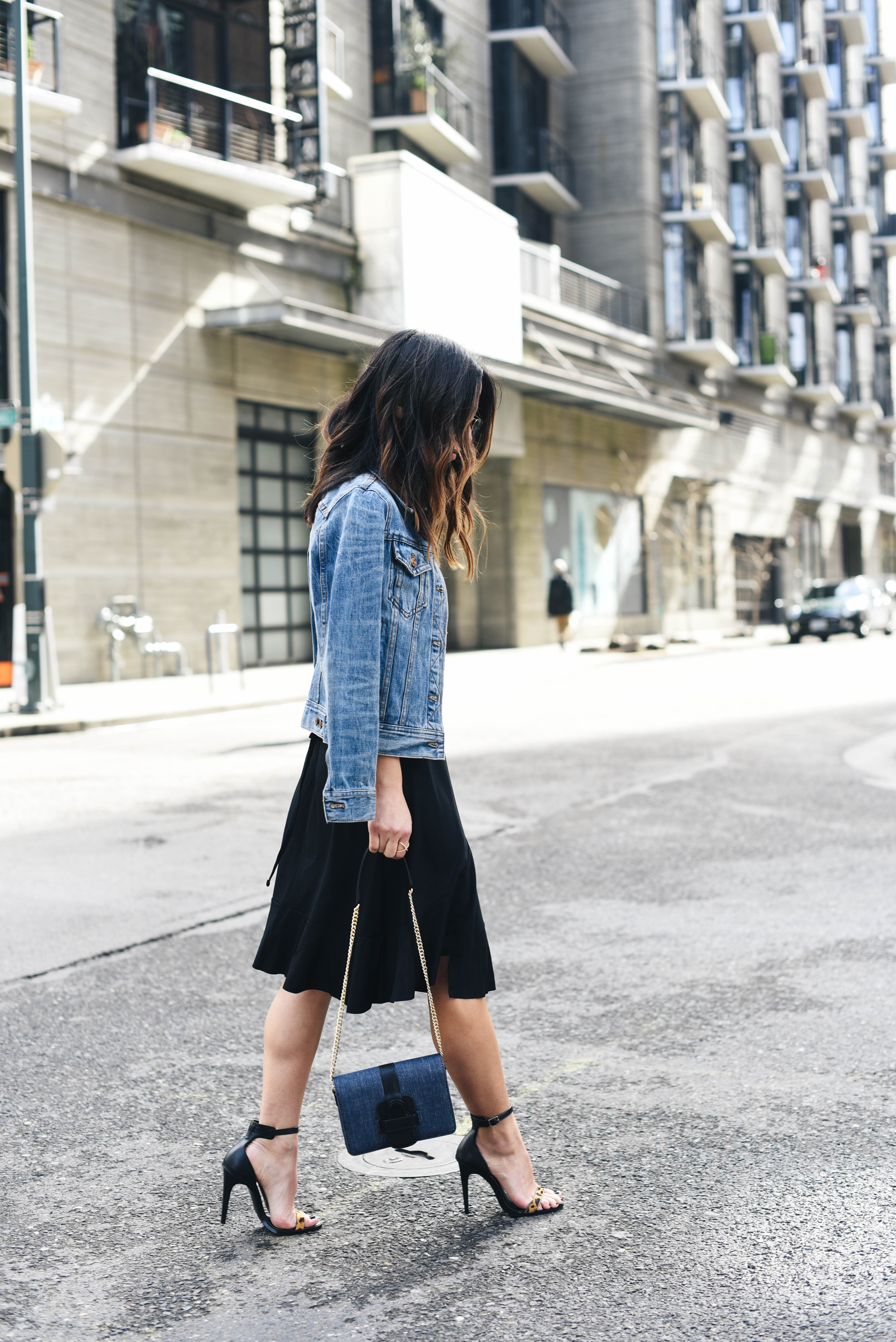 Transition your summer outfits with denim