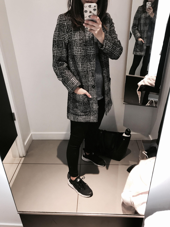 H&M check blazer