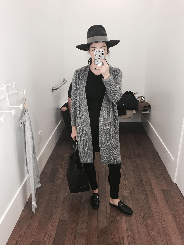 Halogen gray cardigan