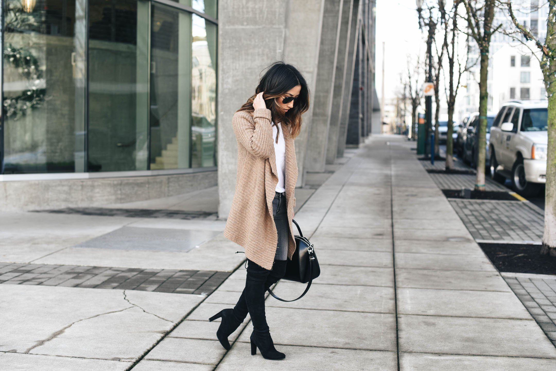 Dress down over the knee boots