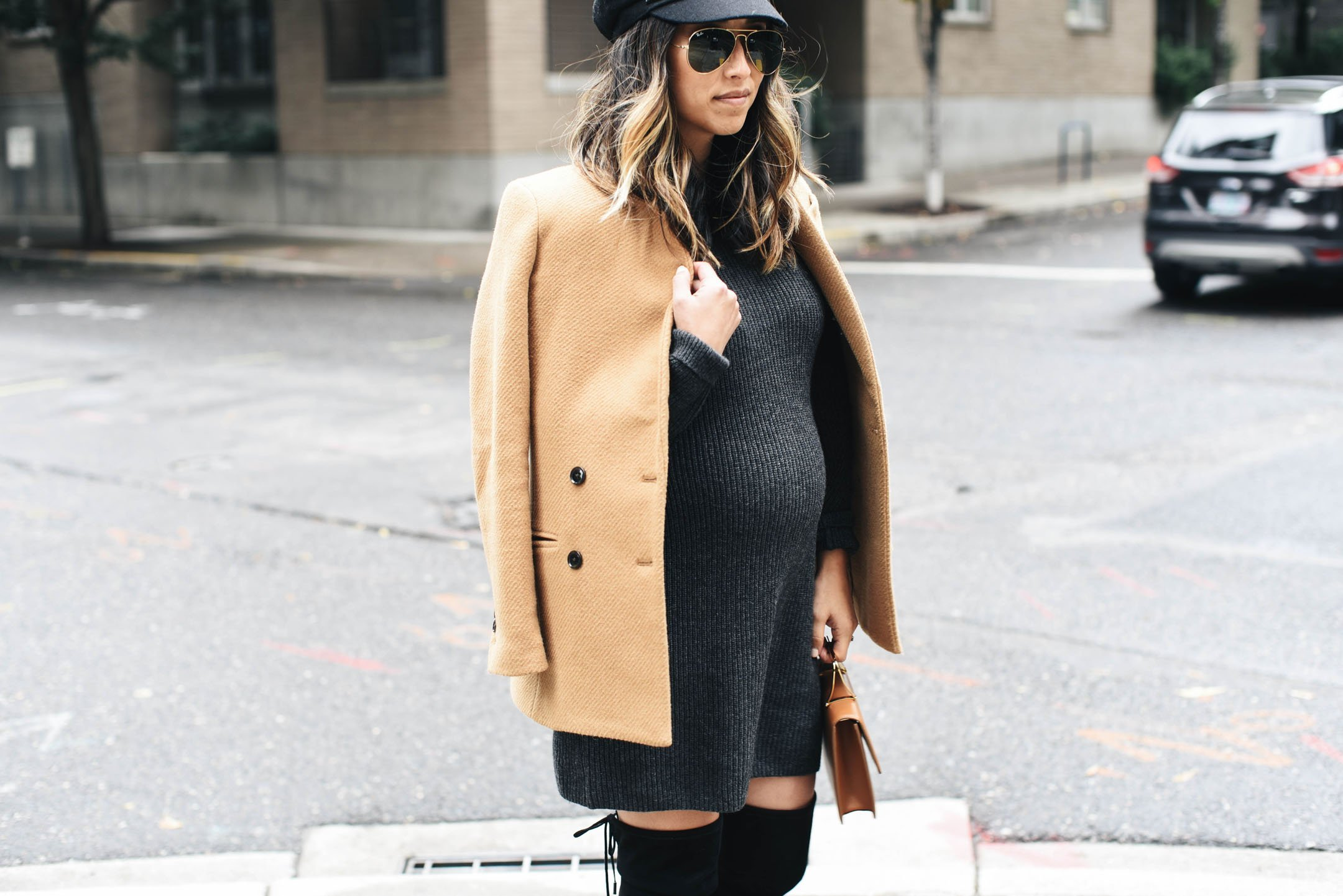 How to style a sweater dress in the fall