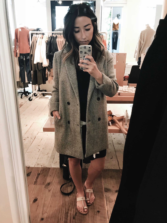 Madewell tweed coat