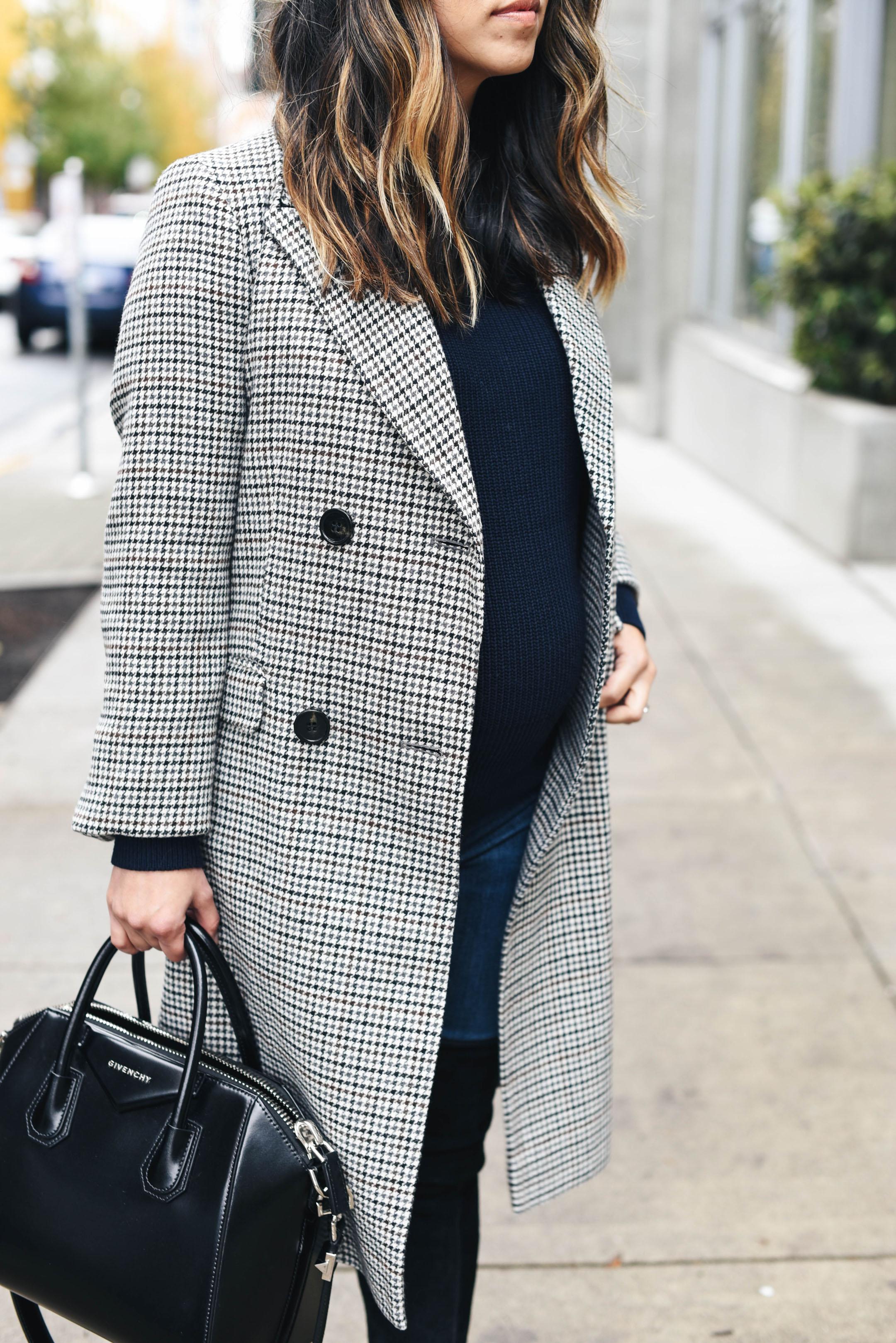 Topshop petite check overcoat