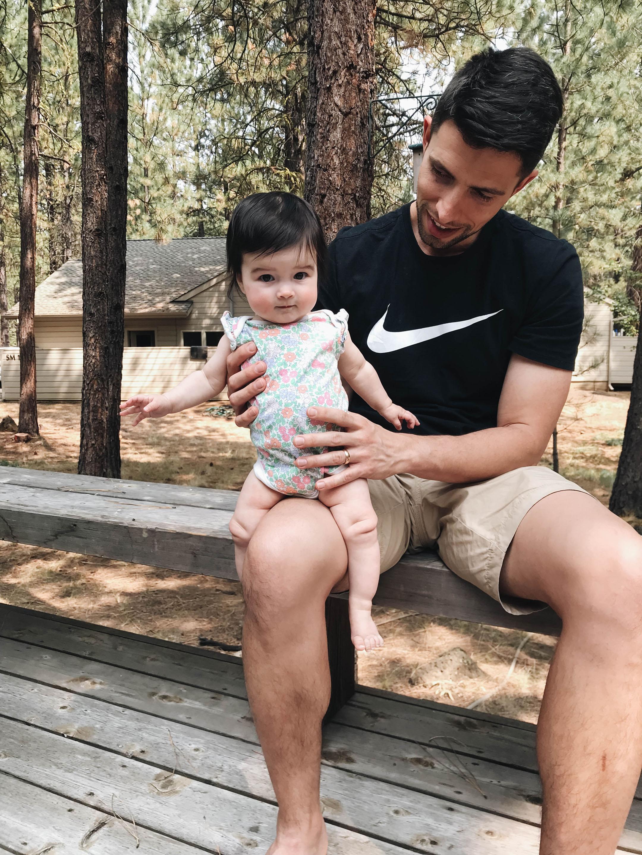Baby Gap floral bodysuit