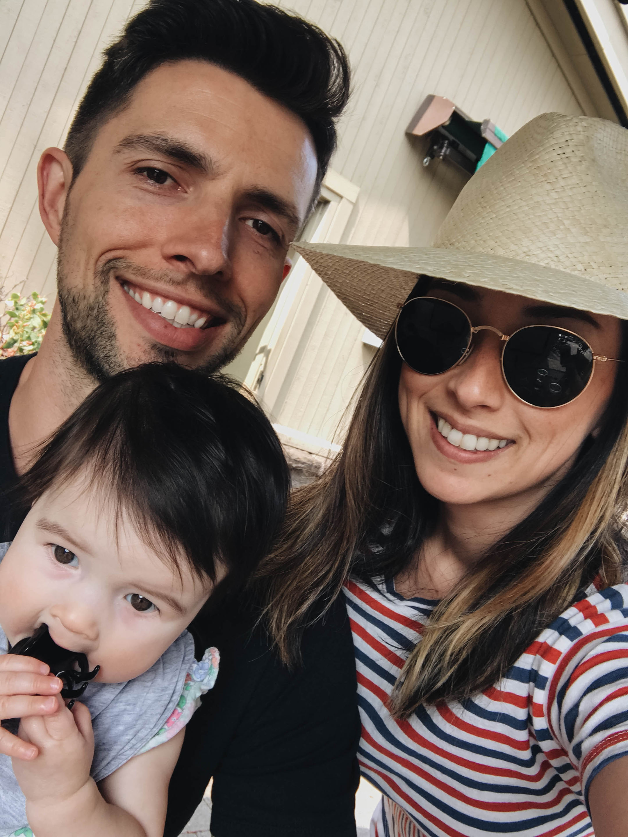 Da Silva family selfie
