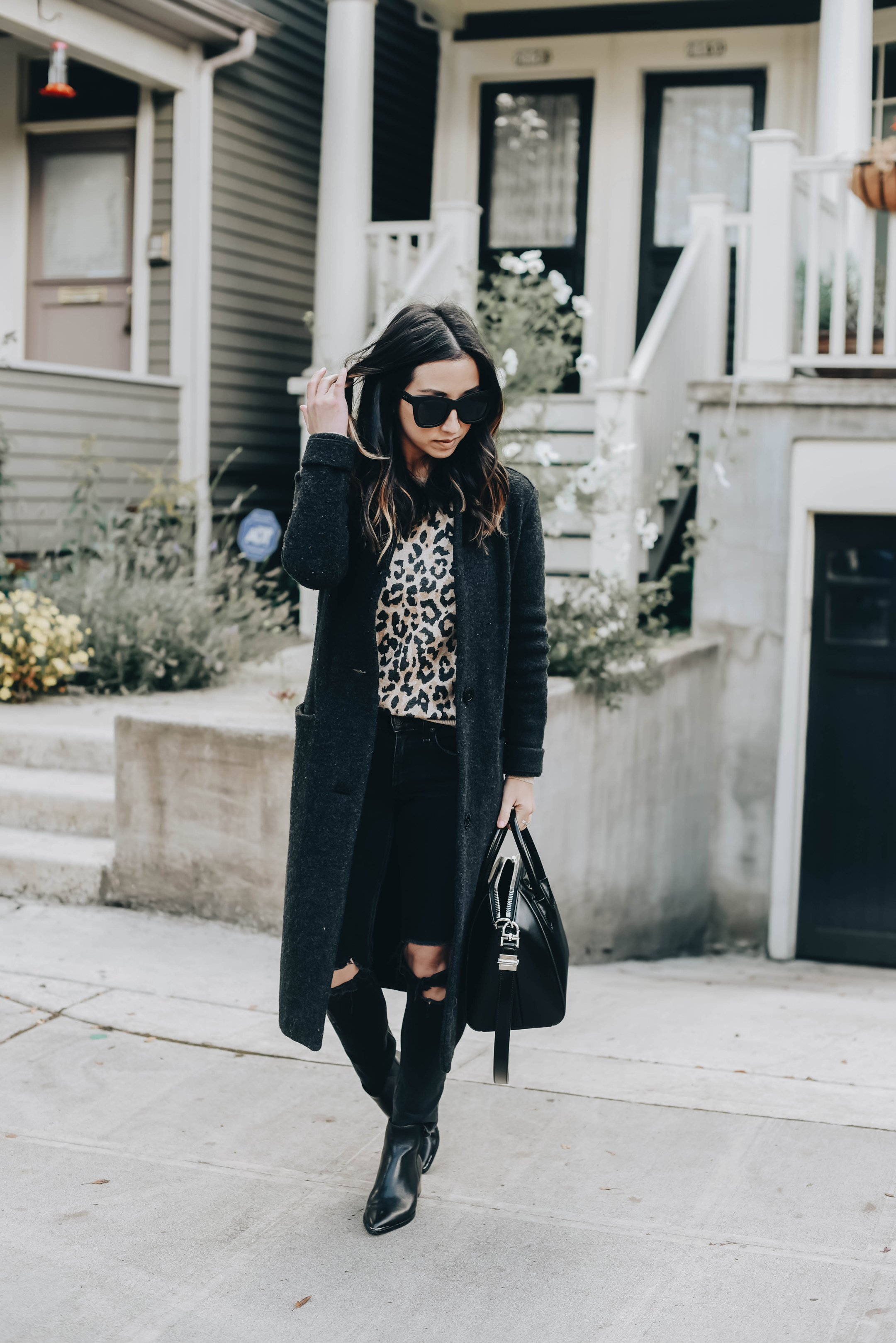 Marc Fisher pointed black booties