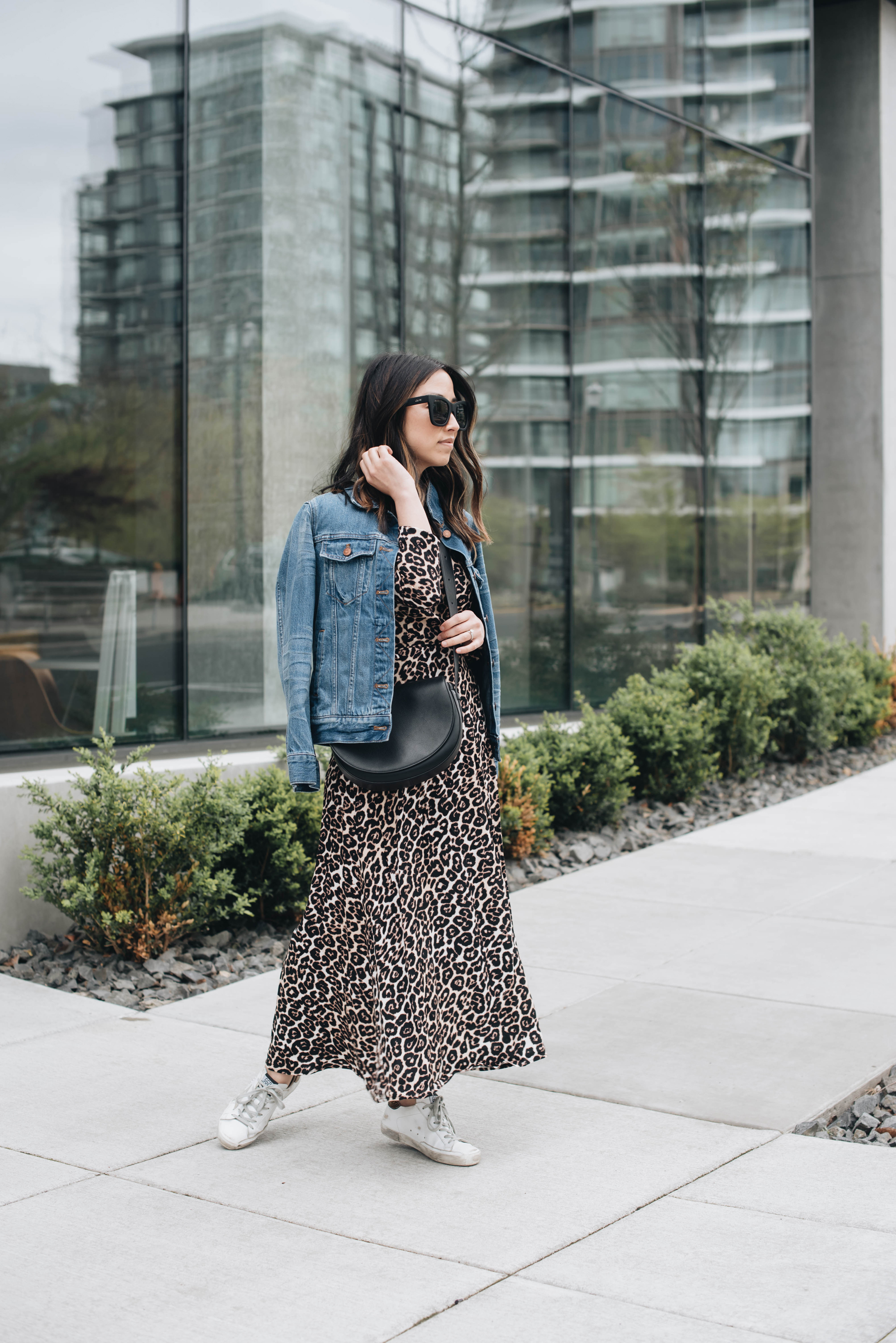 Leopard wrap dress 2 ways