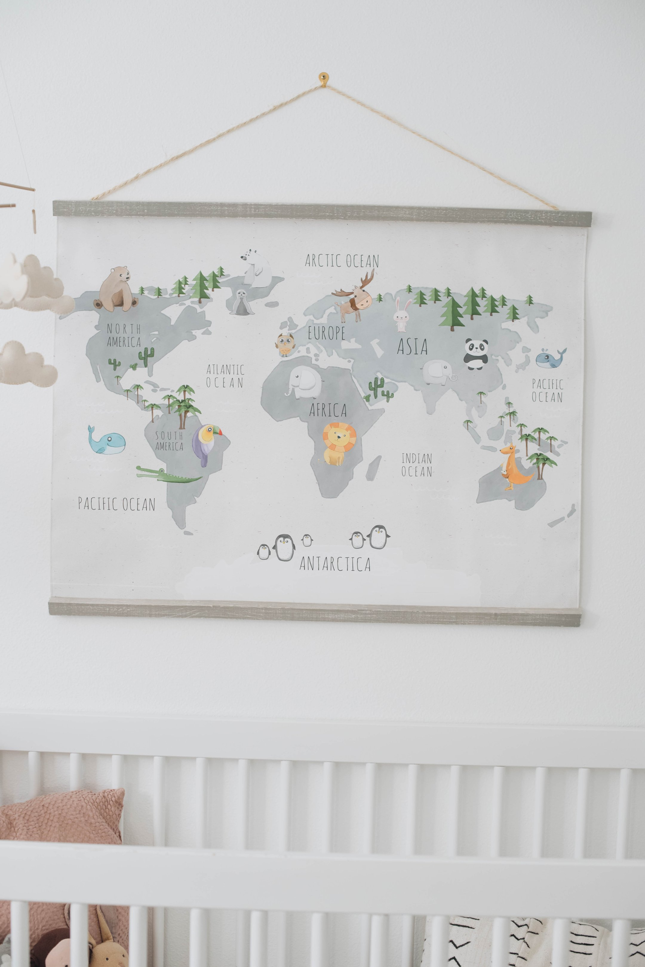 World Map Flower Kids