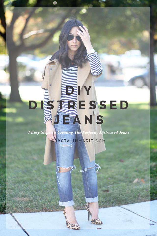 DIY Distressed Jeans