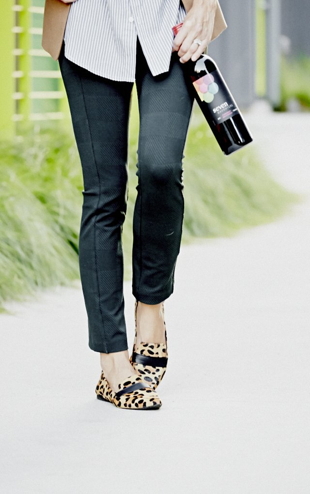 Damsel in Dior loafers