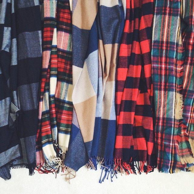fall plaid scarves