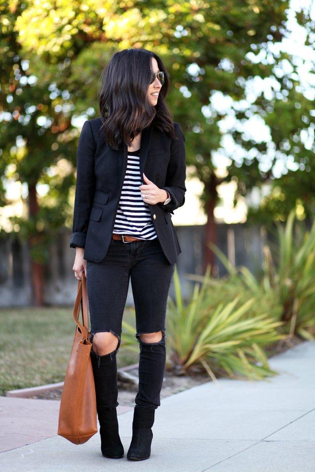 Gap distressed black skinny jeans