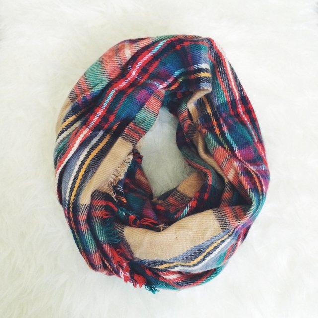 plaid target scarf