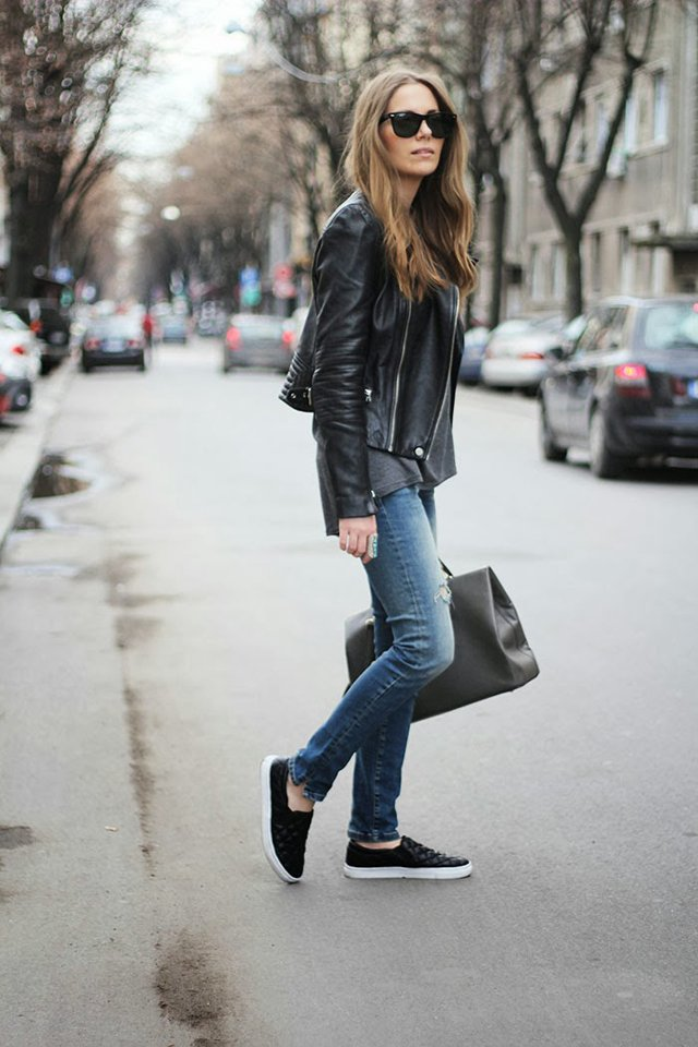 Fashion and style slip on sneakers