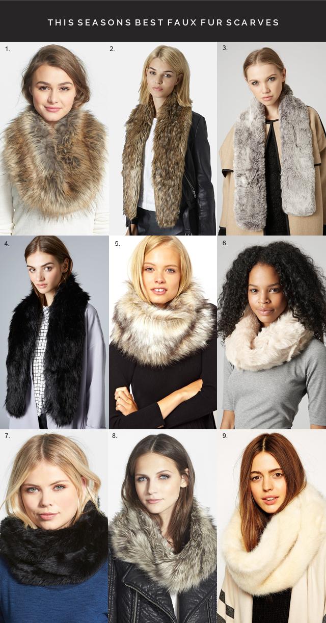 Best Faux fur scarves