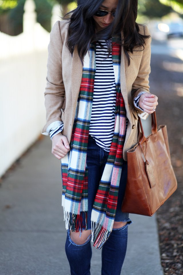 Lord and Taylor plaid scarf