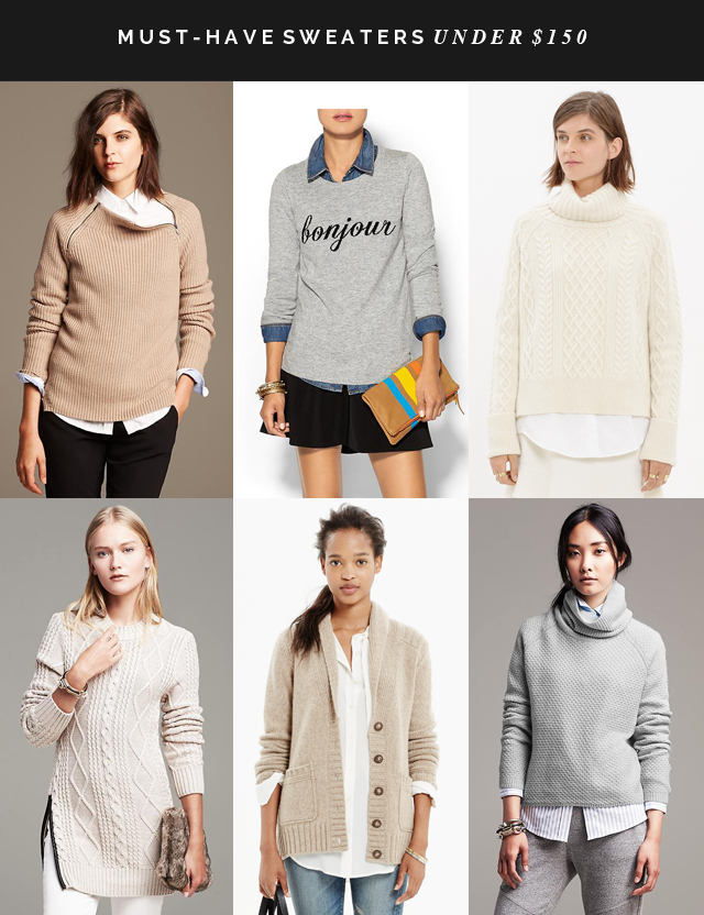 Must-have sweaters under $150