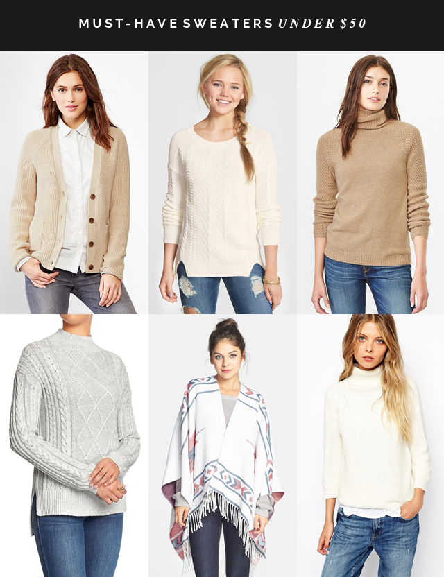 Must-have sweaters under $50
