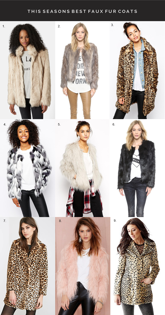 best faux fur jackets