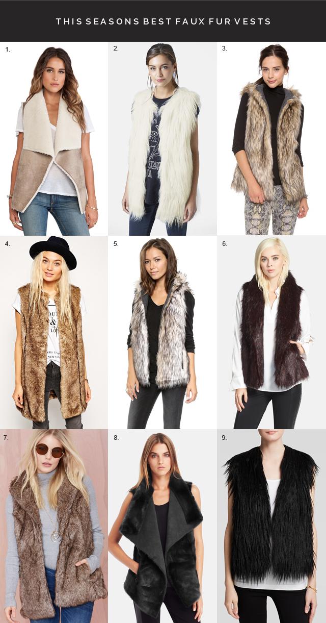 best faux fur vests