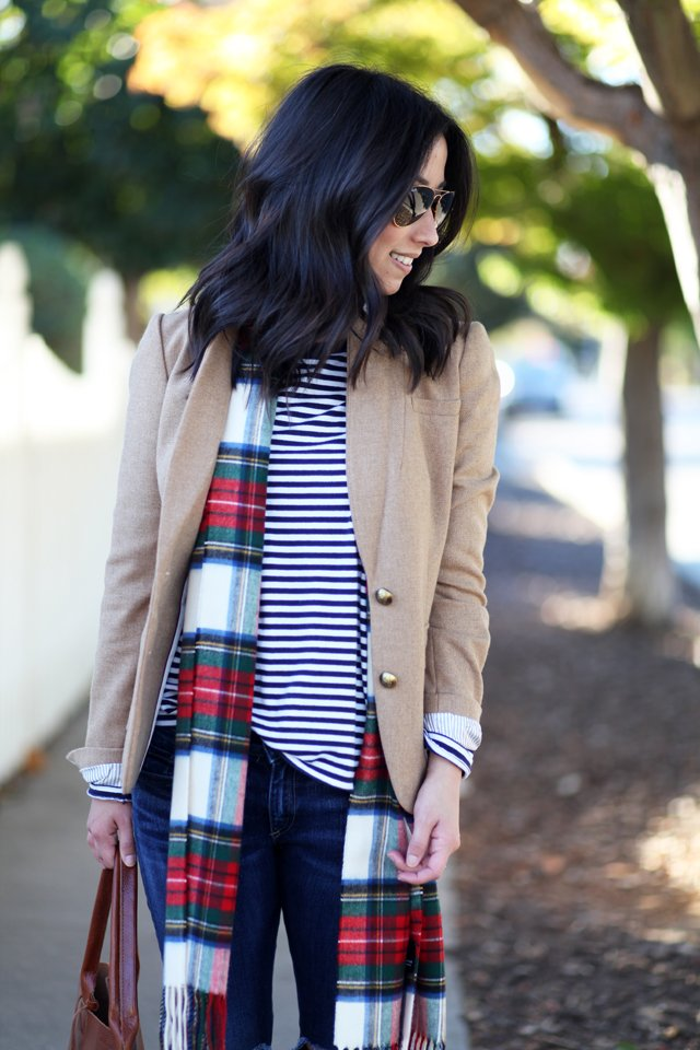 plaid and stripes styled